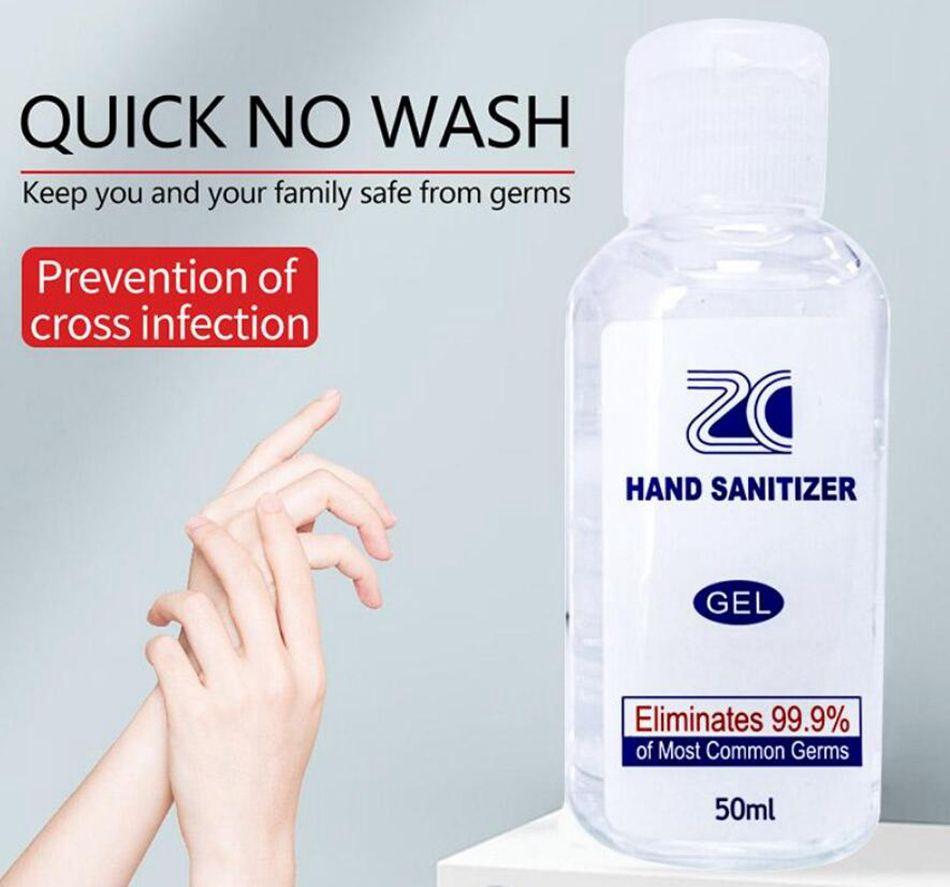 50ML Désinfectant pour les mains des ménages Désinfectant Voyage Portable Quick Dry 75% d'alcool efficace Mini instantané pour les mains Gel OOA7722