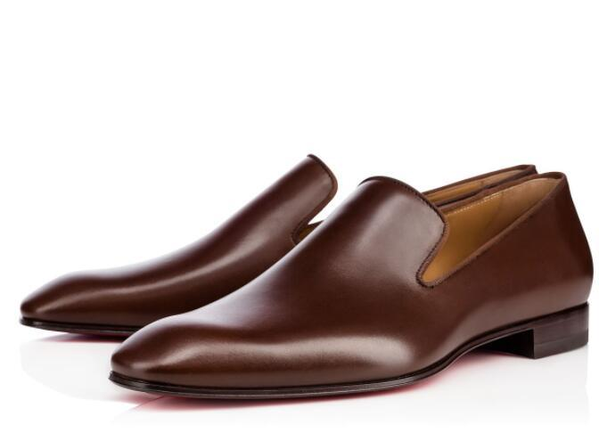 Gentleman-Partei-Hochzeit Kleid Dandelion Oxfords Wohnung Herren Business Slip On Red Bottom Mans Loafer Luxus-Designer-Schuhe Größe 35-46 c14