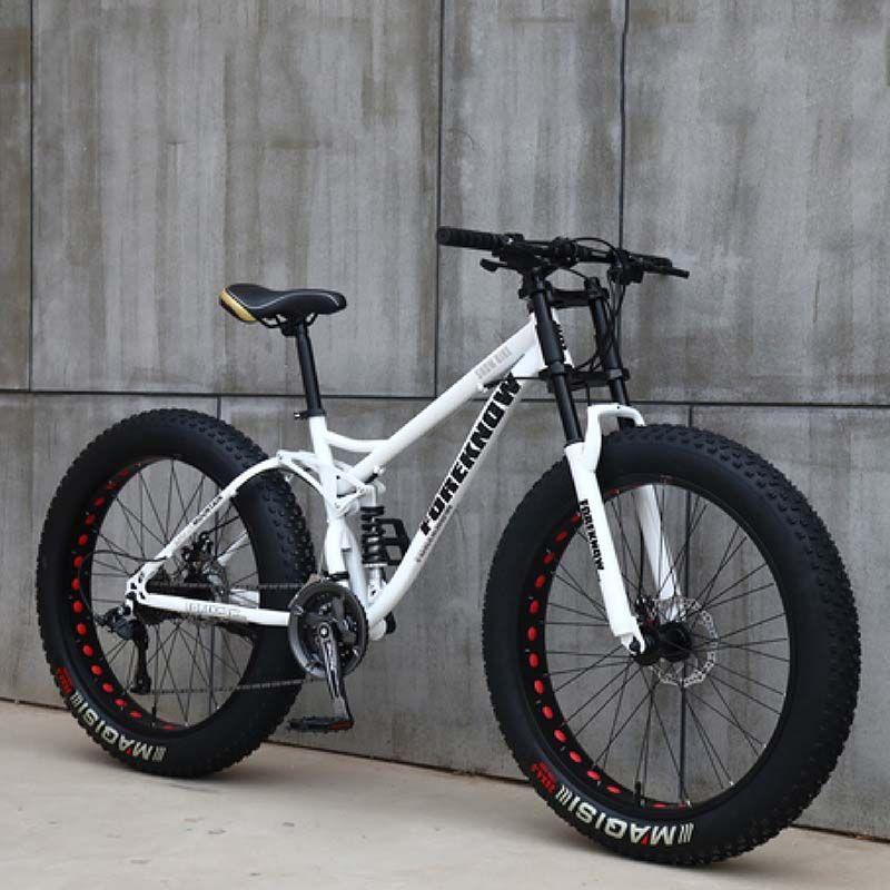 26 بوصة سرعة متغير 21 السرعة على الطرق الوعرة الشاطئ الثلج الكبار السوبر واسعة 4.0 الإطارات الكبيرة الدراجة الجبلية