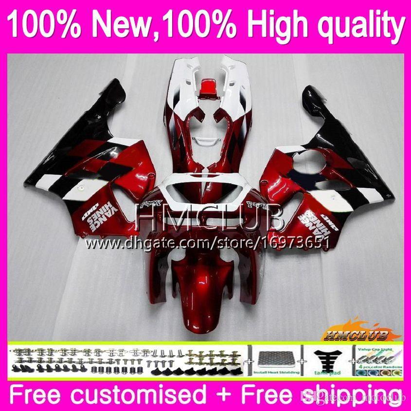 Body For KAWASAKI ZX 636 600 CC 600CC ZX6R 94 95 96 97 61HM.0 ZX600 ZX636 ZX-6R 94-97 ZX 6 R 6R 1994 1995 1996 1997 Fairings Dark red black