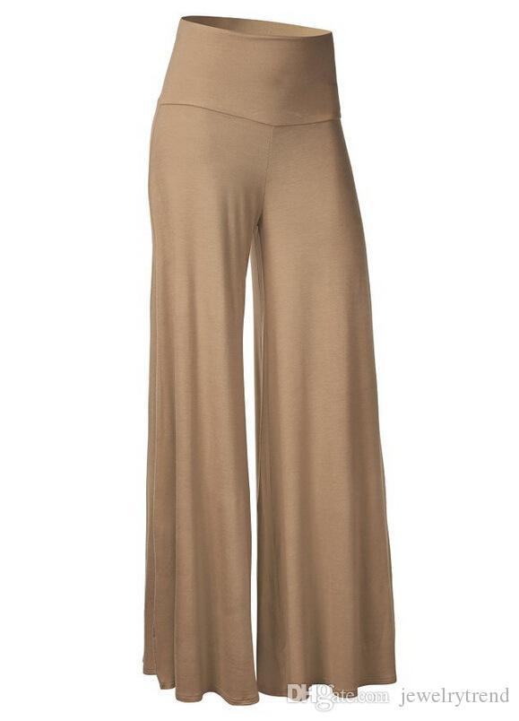 Hot en Europe Pantalons simple Mode femme Pantalons taille haute jambe large pantalon Pantalon de Lady C4651