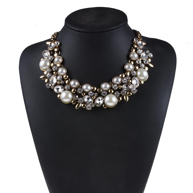 2020 Nouvelle arrivée Mode Chunky Collier ras du cou Collier tendance cristal de luxe Colliers Pendentifs Bijoux femmes -Dans Colliers chaîne à partir de