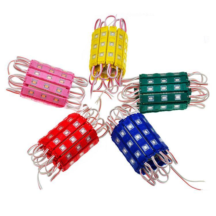 módulo de LED impermeável lâmpada de luz SMD 5730 módulos de LED módulo de injeção de volta luz 0.6W 150lm DC12V para decoração de publicidade