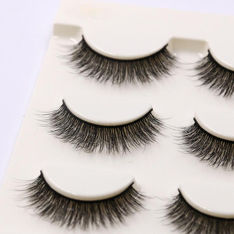 2019 Short Natural False Eyelashes Cross Soft Stem Curl 3d Eye Lashes fashion Stage Makeup Thick Fake Eyelashes