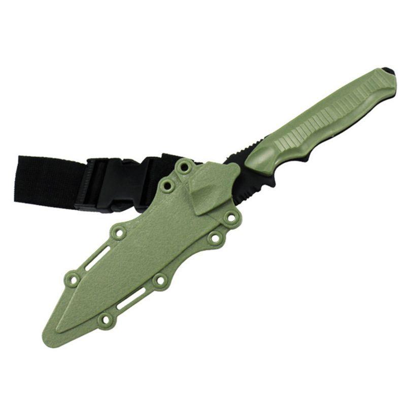 آمنة 1: 1 المتحمسون التكتيكية المطاط سكين التدريب العسكري CS تأثيري لعبة السيف أولا الدم الدعائم خنجر نموذج