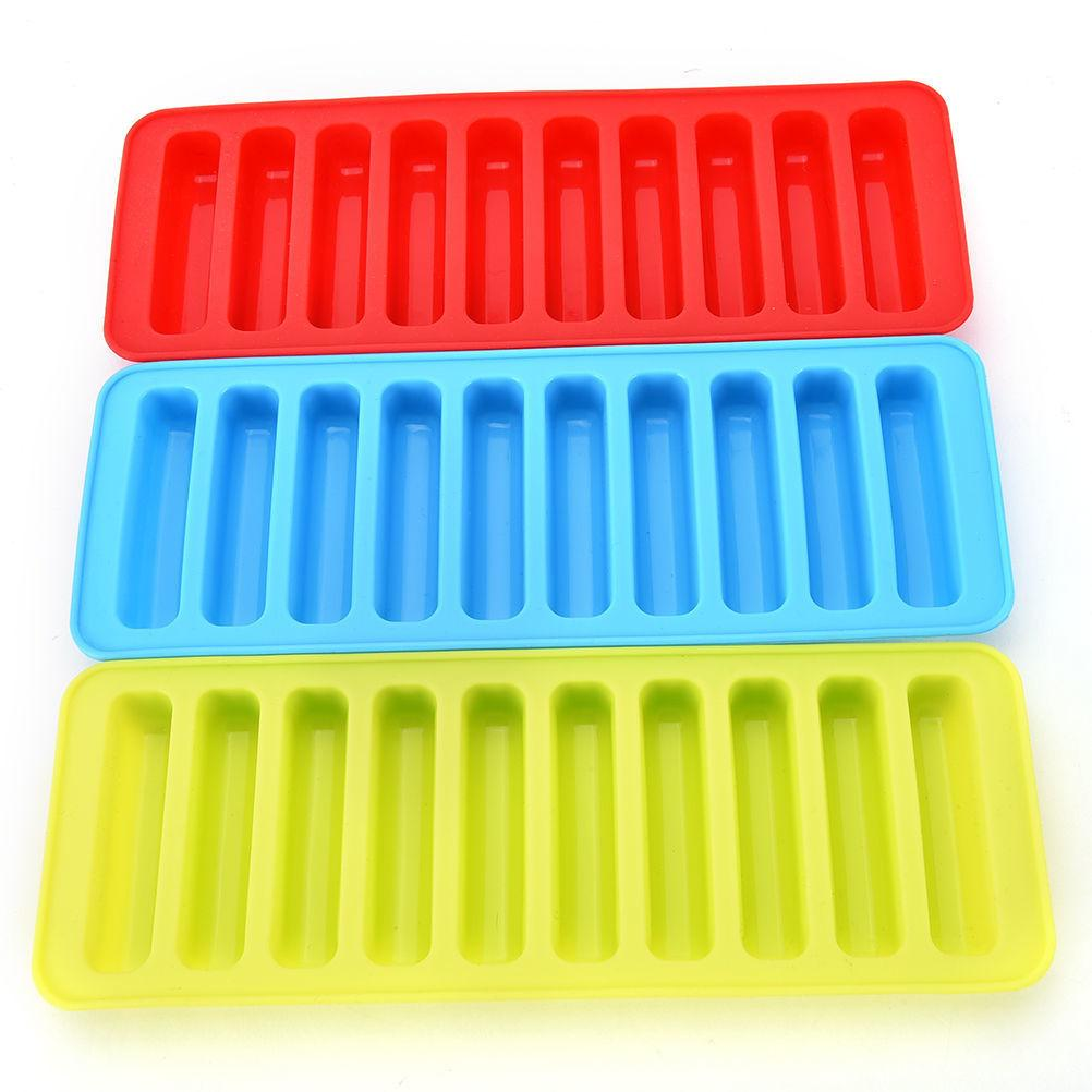 Reutilizável Cilindro Mold 10 Cube Silicone Bandeja Congelar Gelo Para Garrafa de água pudim Jelly biscoitos de chocolate fabricante de molde C19041301