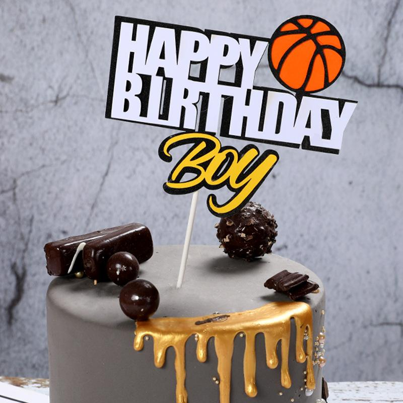 2019 Basketball Soccer Sports Theme Cake Topper Boys Birthday Cake Decoration Happy Birthday Topper Party Supplies From Rosaling 33 49 Dhgate Com