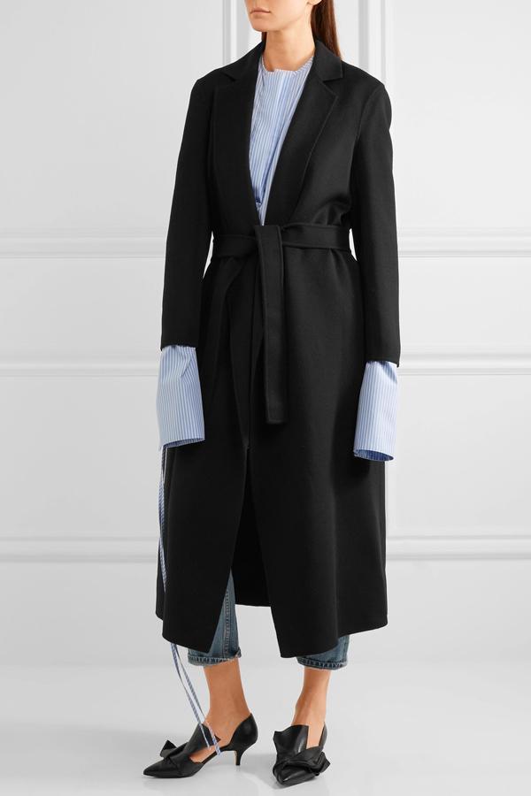 Slim Women Woolen Coats 2018 Elegant H European Style Camel Wild Wool Blends Long Coat With Belt Solid Street wear Lady Jacket