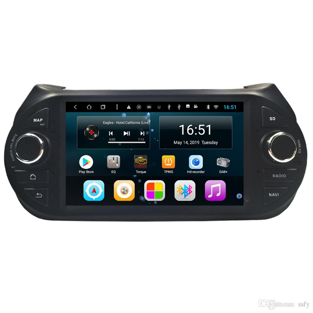 Android car RADIO with free map front camera multimedia player bluetooth precise GPS navigation HD 1080 vidio music for Fiat Fiorino 7inch