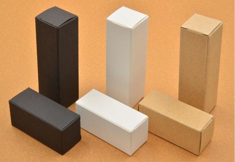 Cigarrillo electrónico 10ml 20ml 30ml 50ml 100ml Negro blanco Kraft Paper Box Dropper Botella de aceite esencial Cajas de regalo Cajas de paquetes de cartón