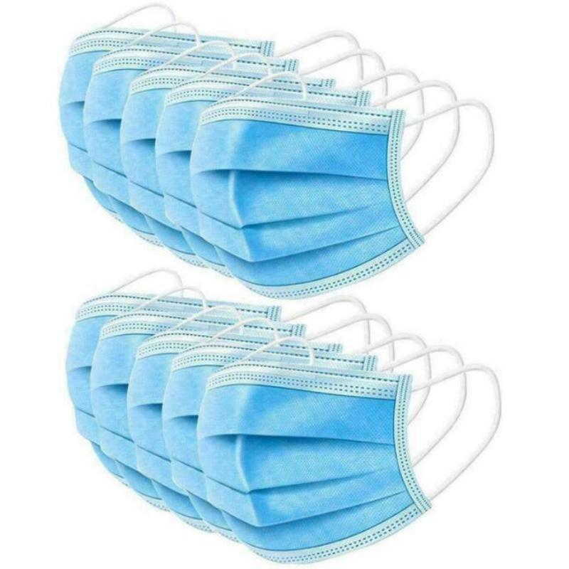 Disposable Face Mask with Elastic Ear Loop 3 Ply Mouth Masks Filter Anti Dust Cotton Protective Safety Mascherine Home Use Facemask In Stock