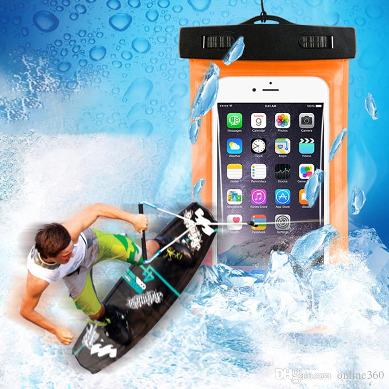Dry Bag Waterproof Case Bag PVC Protective Universal Phone Bag Pouch With Compass Bags For Diving Swimming For iPhone 7 8 X Smartphone