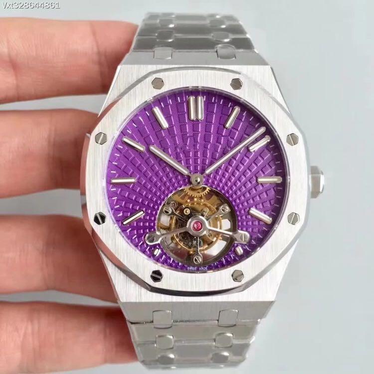 2020, высокое качество, модель 26522, 2924 истинный турбийон, 41 мм х12,4 мм, бренд-часы, бизнес