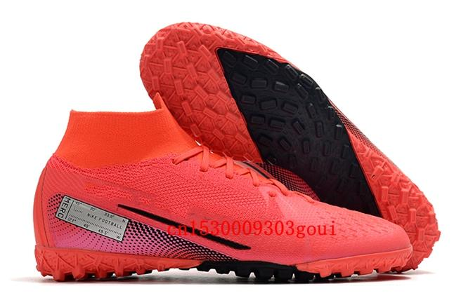 Hot selling SUperFlys TF Soccer shoes turf Football shoes society sales