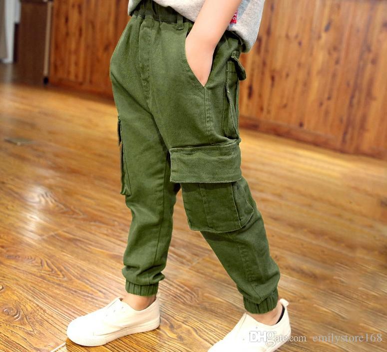 Compre Monos De Ropa Para Ninos Pantalones Para Ninos 2019 Nuevos Modelos De Primavera Y Otono Ninos Pantalones Casuales Version Coreana De La Marea En El Gran Nino A 57 56 Del