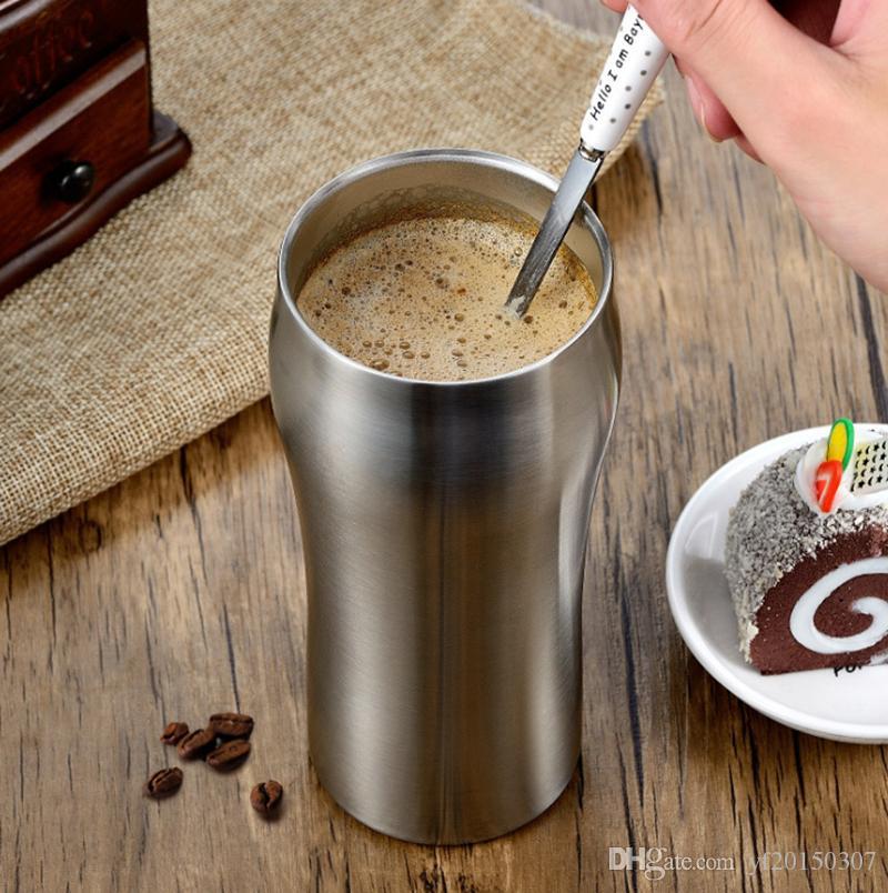 430 ml Ventosas de vacío de acero inoxidable Frasco de vacío adecuado Leche Café Taza de cerveza Taza para uso en la oficina en casa