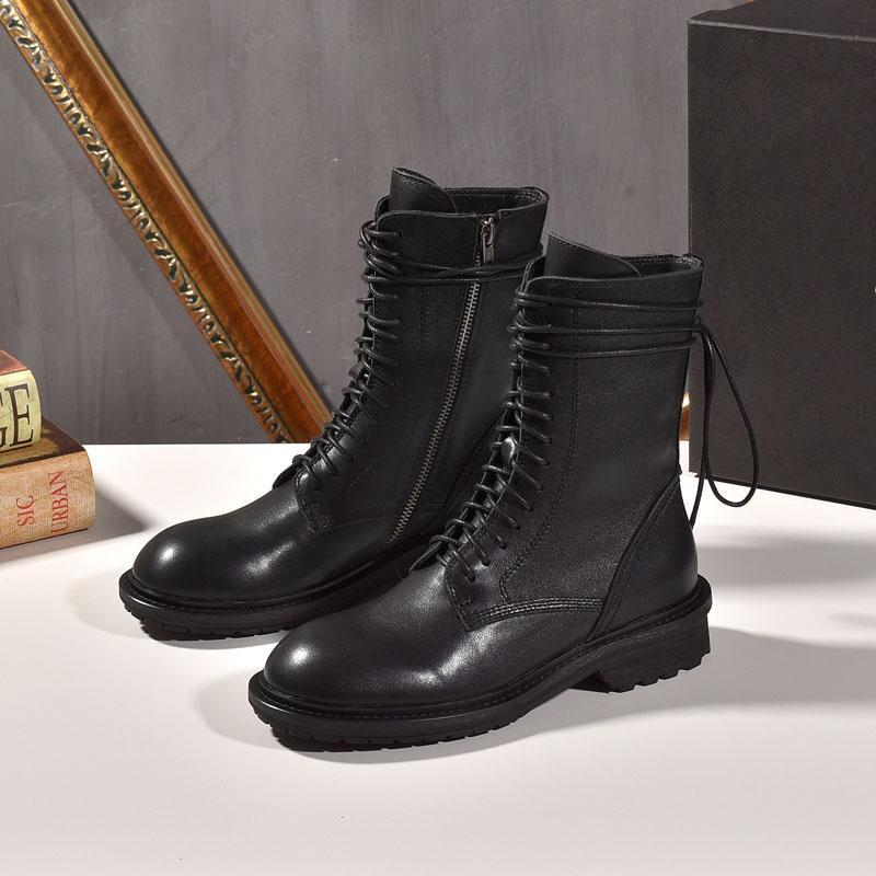 Роскошный стиль женщины повседневные сапоги зима натуральная кожа дешевые туфли дизайнерские классические туфли открытые туфли черный цвет размер 35-40 s102