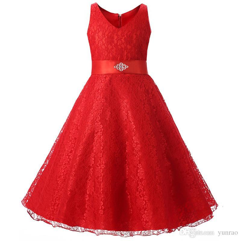 여자 파티 드레스 어린이 의류 크리스마스 드레스 생일 선물 아이 드레스 의류 여자 레드 그린 블루 8 색 공주님 긴 드레스