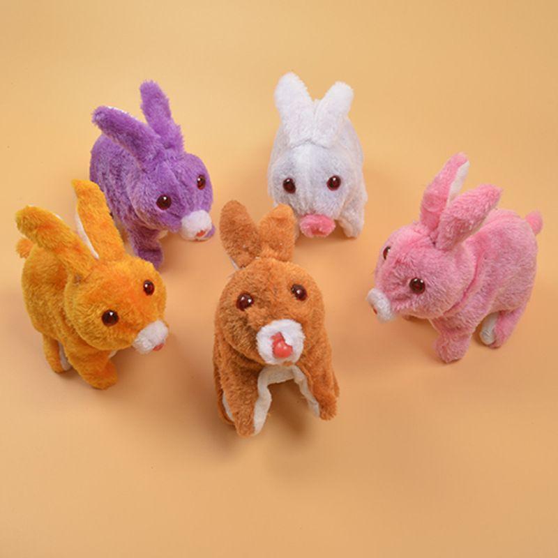 New Electric Animal en peluche lapin émettant de la lumière sautera appeler le fabricant lapin de simulation jouet émettant de la lumière fourniture en gros