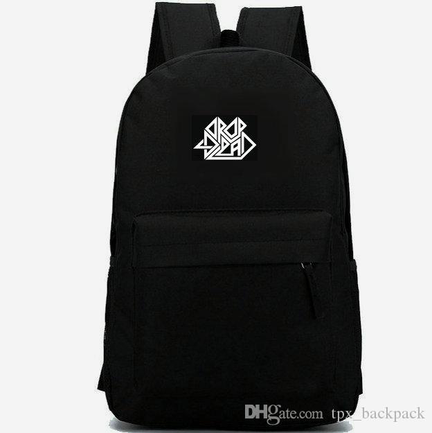 مصمم حقيبة الظهر قطرة حزمة يوم الموتى شعار نمط حقيبة مدرسية الفرقة جيدة packsack الترفيه الظهر الرياضة المدرسية daypack في الهواء الطلق
