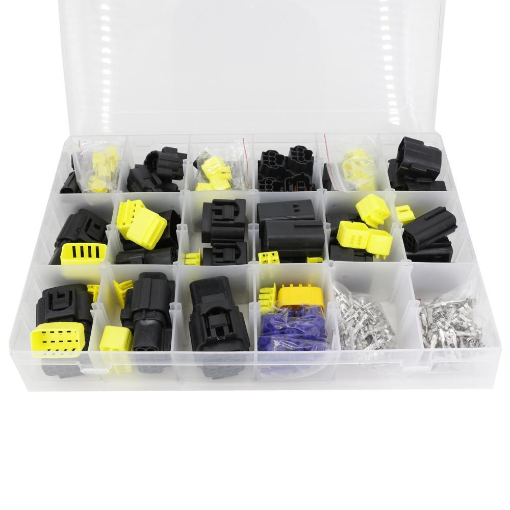 1 caixa de 24 conjuntos Série 1.8mm à prova d'água de vedação selada carro auto eletrônico conector conector conector de conector de automóvel