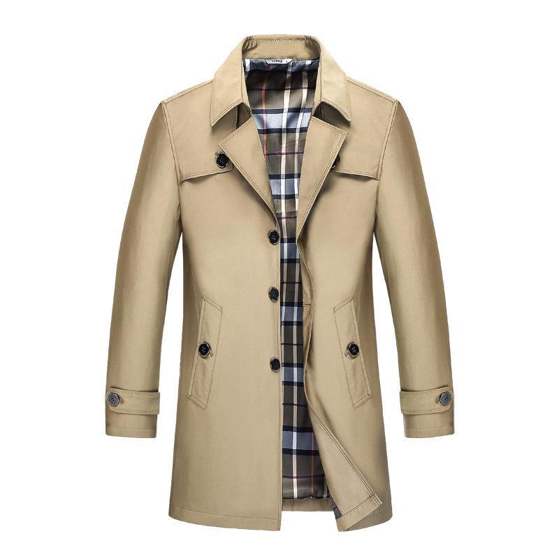 Mens Trench Homme Blazer Designs Slim Fit affaires Costume Casual Veste Trench Printemps Automne Vestes coupe-vent Plus la taille 9XL