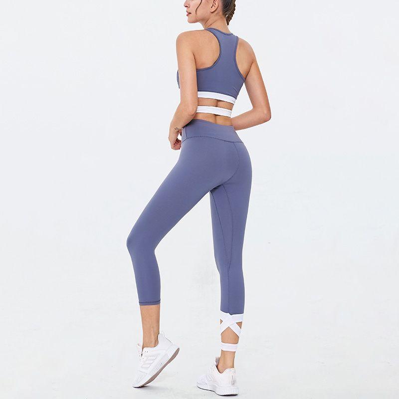 GXQIL 3/4 Legging Kit Professionelle Workout Gym Sport-Frau Set Push Up Yoga Set Gym Bekleidung Neue 2020 Frauen Sportswear Einzigartige