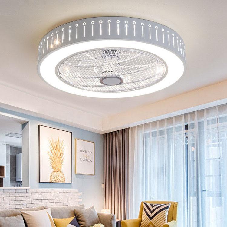Controle esperto do ventilador de teto com o ventilador de teto home interno de Wi-Fi do telemóvel com luz
