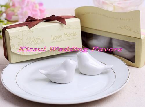 10boxes Cute Wedding Gift Love Birds Ceramic Salt And Pepper