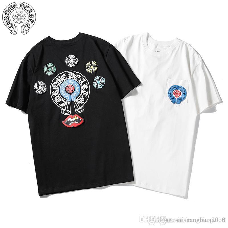 2019 verão de algodão nova pin urso de manga curta homens e mulheres soltas com o mesmo T-shirt