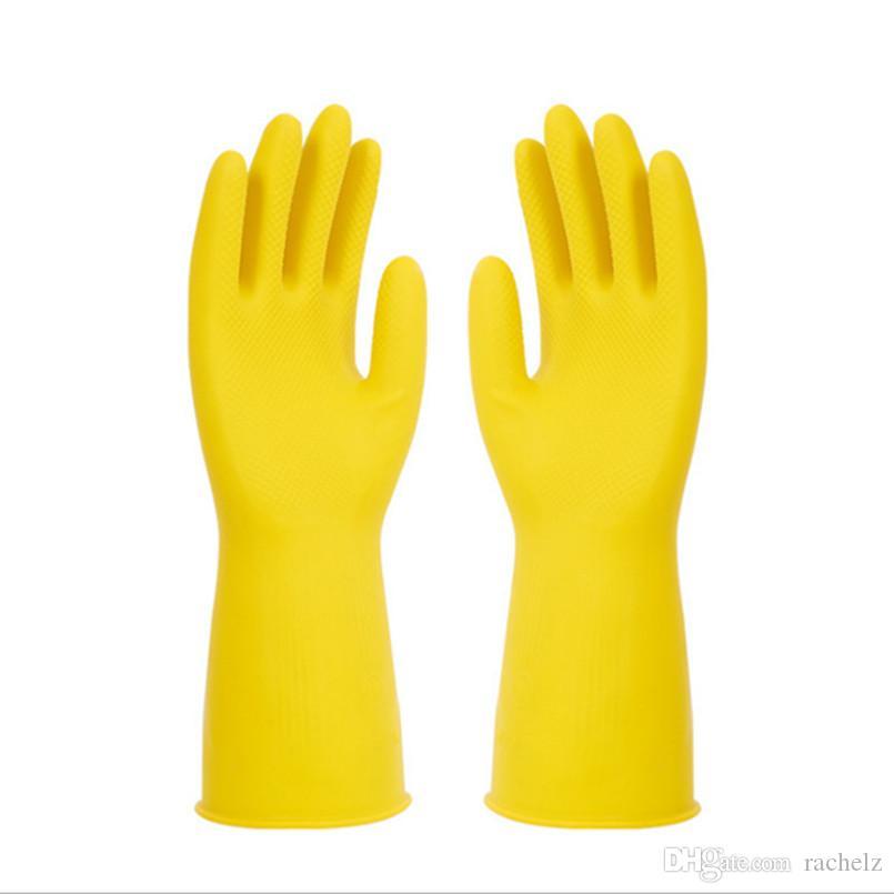 Temizleme eldivenleri koruyucu eldivenler Bulaşık yıkama Magi Silikon alkali dayanıklı düz 0009 Yeni Pratik Mutfak Lateks Giyilebilir Eldiven Sigortası