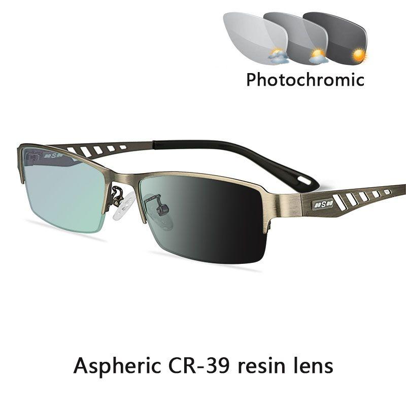 Uomini Business Sun Transition Reading PhotoChromic Women +1.5 Presbiopia Iperopia Diopters Glasses Vetro Men's +1.0 +0.25 +2.0 RJNGW