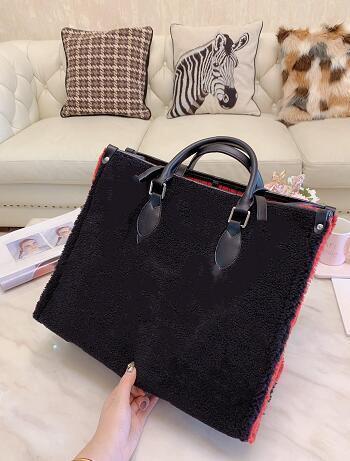 Nueva peluche del invierno OnTheGo de lujo de diseño de calidad superior bolsos de las mujeres compra Bolsas de hombro bolsa de moda cachemira totalizadores bolso de París 405ab5 #