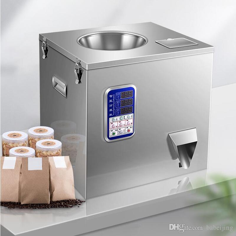 Máquina de embalaje de escritorio máquina de llenado automático de gránulos gato alimentos en polvo de té con un peso máquina de embalaje automática cuantitativa