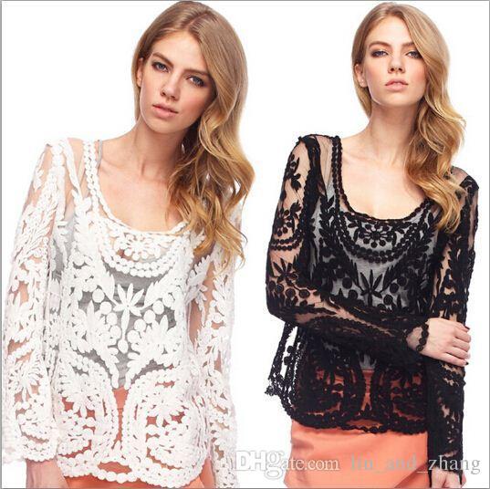 الدانتيل بلوزة المرأة Blusa الأنثى الملابس الصين رخيصة الصيف نمط جديد شير الرباط Blusa زائد الحجم ملابس نسائية بلايز