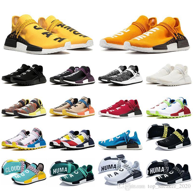 Adidas Con la alta calidad de los calcetines raza humana lienzo en blanco zapatos para hombres mujeres Naranja Negro Nerd triple de color amarillo pálido Igualdad corriendo desnud