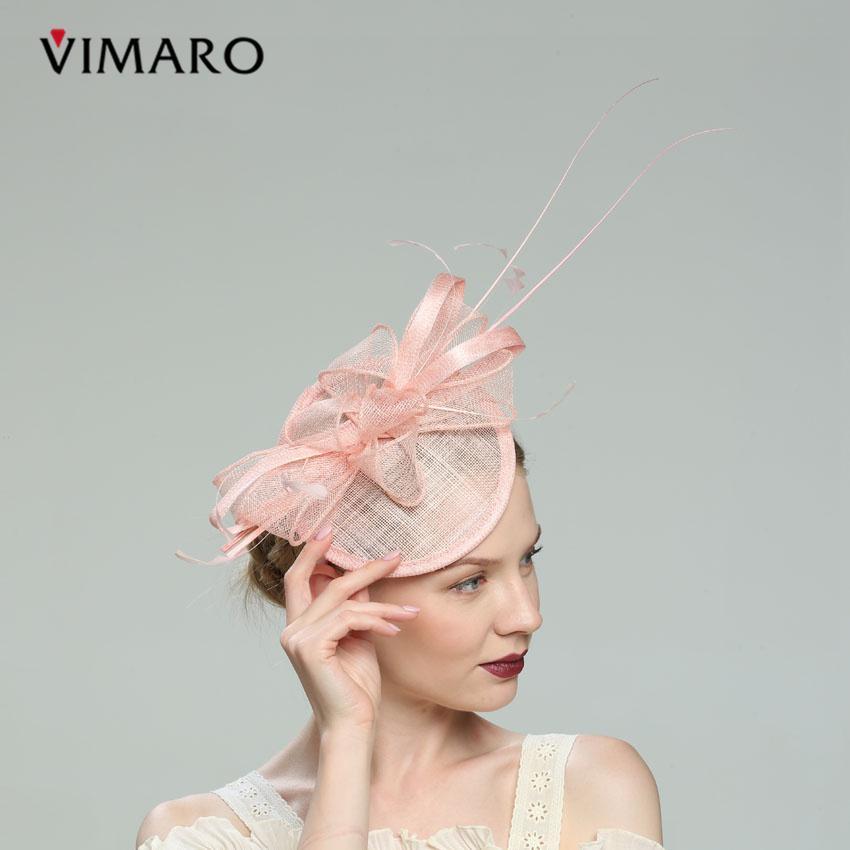 Fascinators dei capelli di colore rosa / verde per le donne Fascinators eleganti per i cappelli di nozze e Fascinators Fasce degli accessori dei capelli