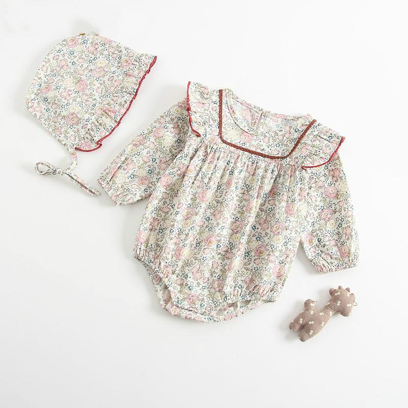 Melario ребёнка Rompers лето младенец Новорожденные с длинным рукавом для девочек One-части комбинезона младенец хлопка мягких одежд Эпикировка