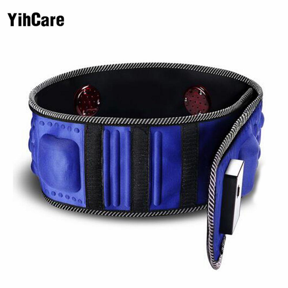Yihcare 220v Electric Vibration Infrared Ray Sauna Waist Belt Weight Loss Fat Burning Heating Massage Vibrator Massager T190816
