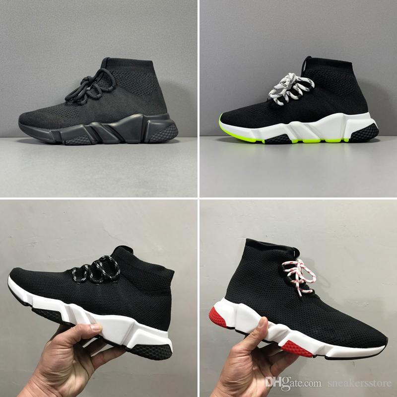 Com Box 2020 estiramento malha texturizados MALHA Top Quality Speed Trainer 2.0 Sock Sapatos raça negra verdes Branco Homens Mulheres Sapatos casuais