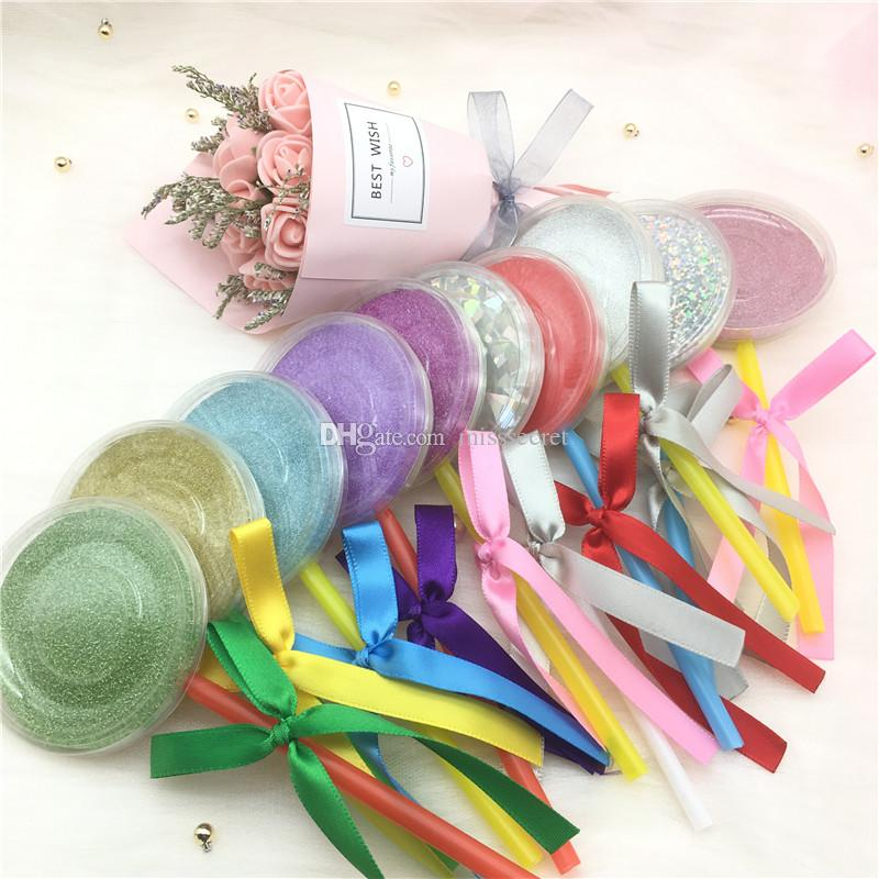 Shimmer Lollipop Lashes paquete de la caja 3D Mink pestañas falsas pestañas falsas cajas de embalaje caja vacía Herramientas de pestañas caja de cosméticos