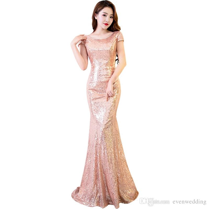 Short Sequin-Lace Wedding-Guest Sheath Dress