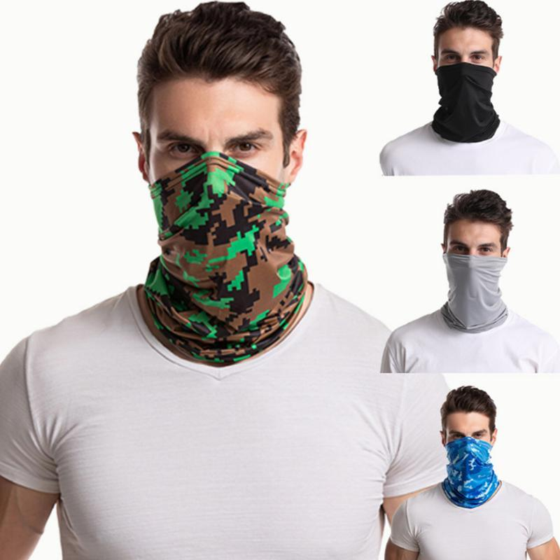 4pcs Polyester Outdoor Cycling Multifunctional Face Cover Magic Scarf Sports Sunblock Seamless Neck Gaiter Summer Bandana
