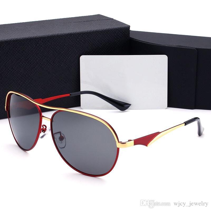 Mens designer óculos Homem Goggle Luxo óculos de sol P Letters Altamente qualidade com Box