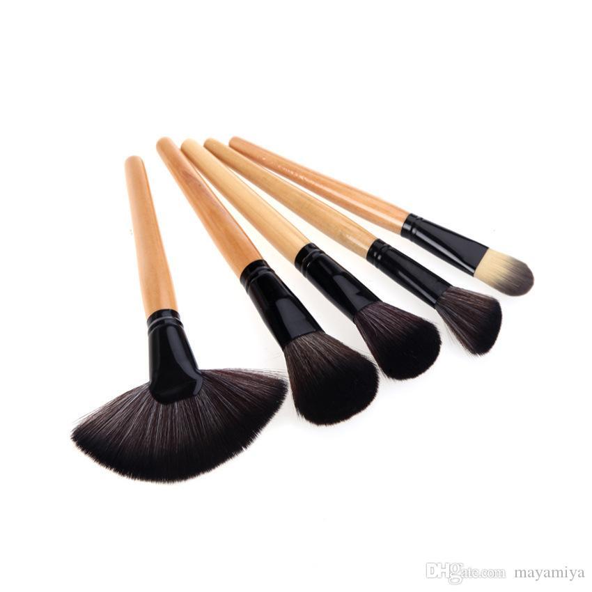 DHL Free shipping 24pcs Makeup Brushes Set Make Up Brushes set Horsehair makeup brushes
