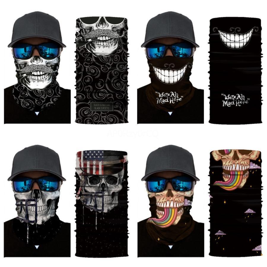 Yürüyüş Bisiklet Kafatası Eşarp Yapamam Koruyucu Binme Çok Fonksiyonlu Sihirli Kafa Kafatası Eşarp Yeni # 474 Maskesi NEFES