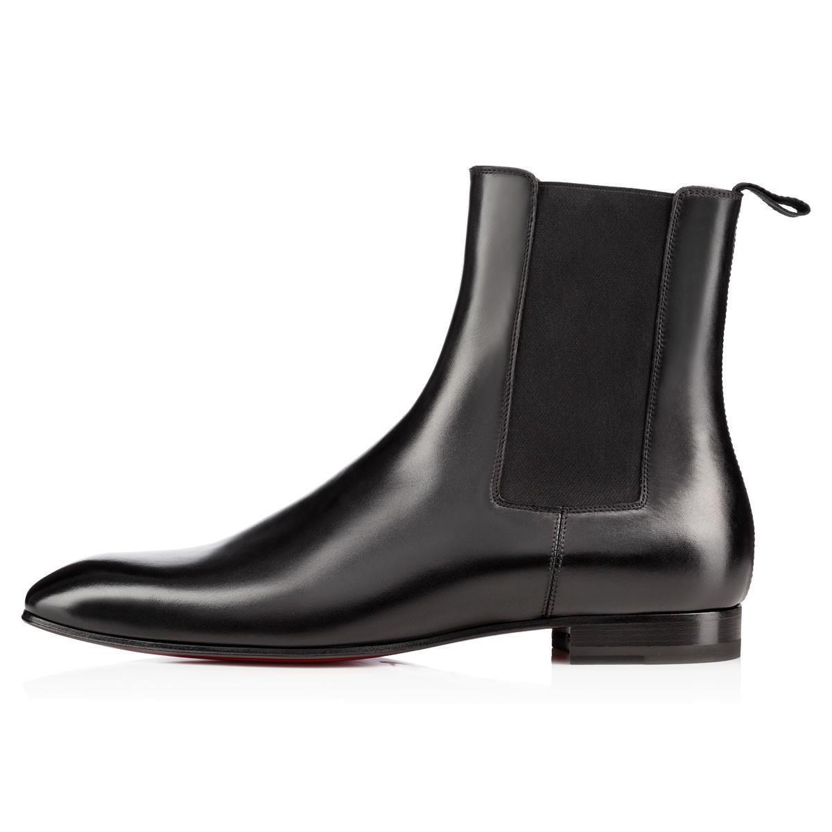 Moda elegante del diseñador de los hombres de negocios de cuero Negro cargadores del caballero de alta top rojo botas abajo, Marca plana tobillo patea los zapatos casuales L14