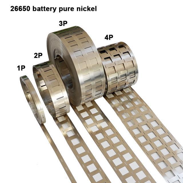 Acessórios barato bateria 26650 bateria tira pura de células Li-ion cilíndrico puro níquel 26650 fita de níquel Adequado para 26650 2P 3P titular