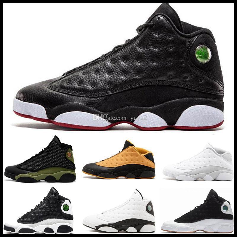 Jumpman 13 13s Şapkanız Erkek Çocuk Basket Ayakkabısı Atmosfer Grey Terracotta Allık Chicago Kedi Kara Flints Bred DMP erkekler