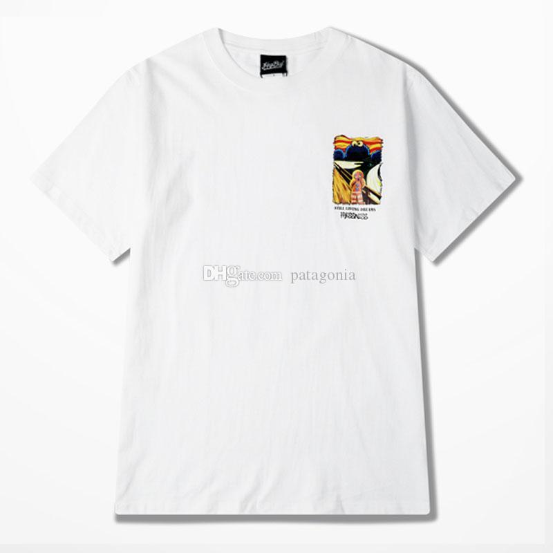 Повседневные мужские футболки Мода Мужчины Hip Hop Короткие рукава высокого качества Мужчины Женщины Летний спорт тройники